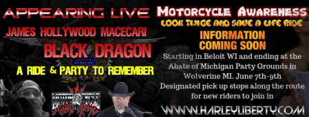 ad for summer abate ride featuring Black Dragon and James Hollywood Macecari.