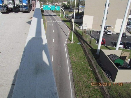 Where the accident occurred on Interstate 4. (Florida Highway Patrol)