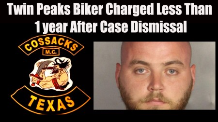 Ledbetter, a Texas biker charged in neighboring county one year after his WACO Texas trial was dismissed.