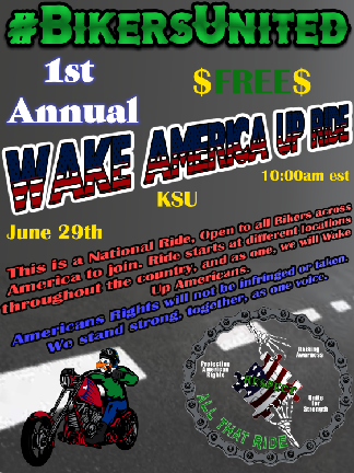 poster for abate biker ride in June 2019