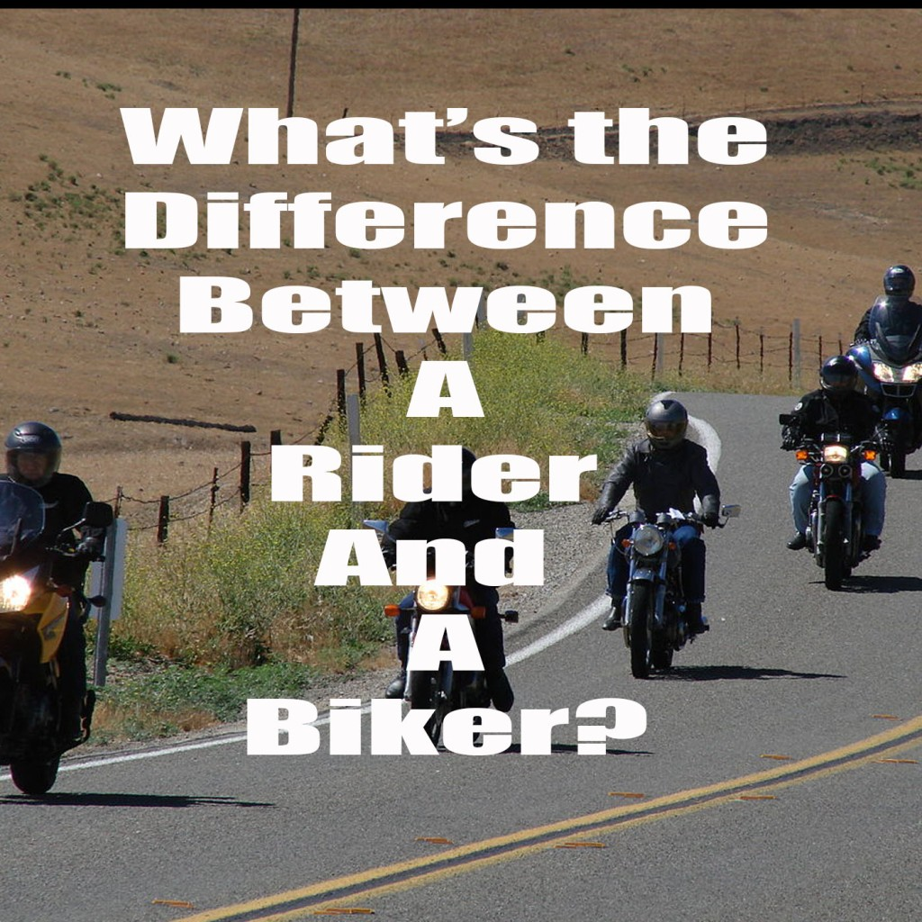 What's the difference between a rider and a biker.