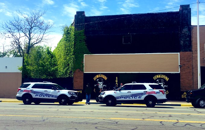 Man found dead inside Detroit Gentlemen's MC club house.