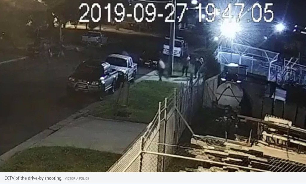 CCTV of the drive-by shooting.